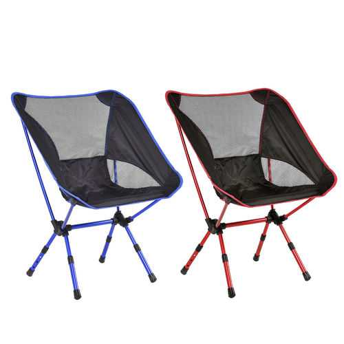 Outdoor Adjustable Folding Aluminum Camping Chair w/ Bag