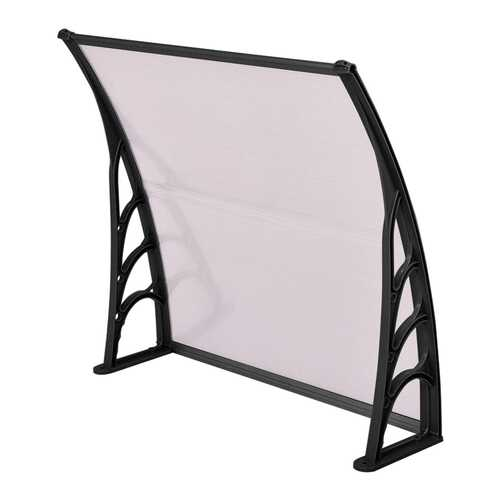 "40"" x 40"" Outdoor Polycarbonate Front Door Window Awning Canopy-Black"