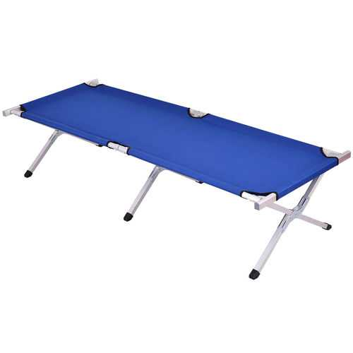 Foldable Portable Blue Hiking Camping Bed