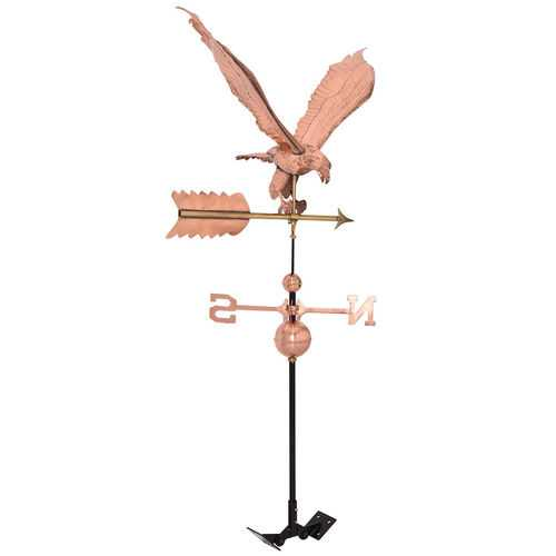 Polished Outdoor Roof Mounted Copper Eagle Weathervane