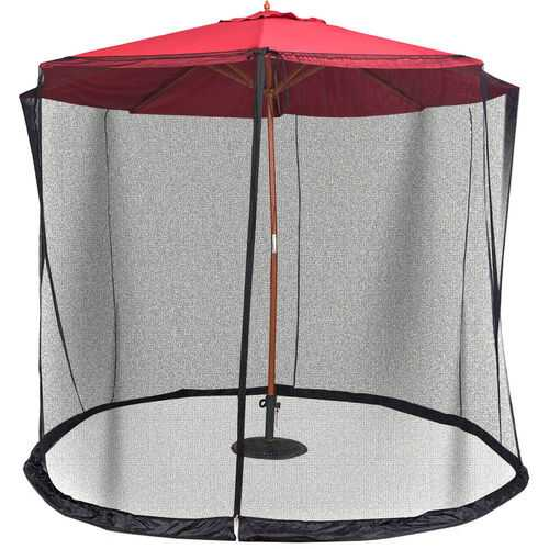 Outdoor 9/10 FT Umbrella Table Screen Mosquito Bug Insect Net