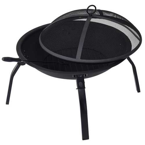 """22"""" Outdoor Portable Folding 4 Legs Fire Pit Fireplace"""