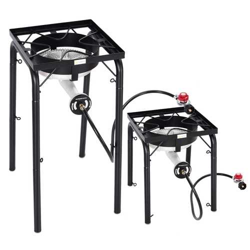 200 000-BTU Portable Propane Single Burner with Adjustable Legs