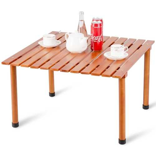 Folding Camping Outdoor Indoor Picnic Wood Roll up Table