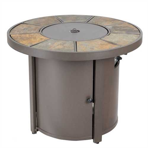 50000 BTUs Round Outdoor Propane Gas Patio Heater with Cover