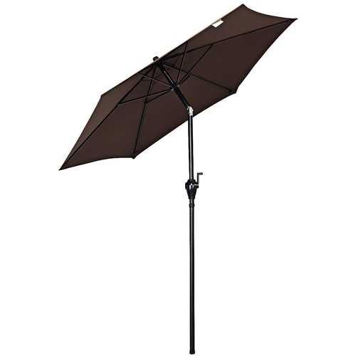 6.3ft Outdoor Patio Easy Tilt Umbrella Sunshade Cover