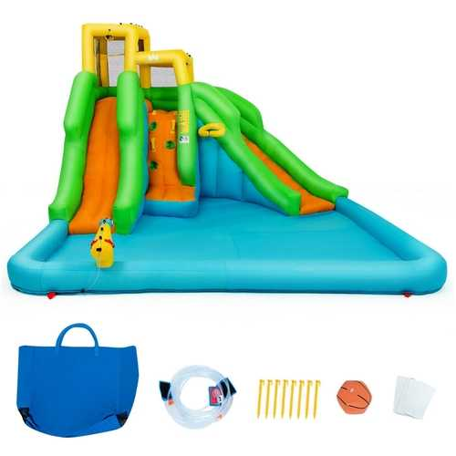 Inflatable Water Park Bounce House with Climbing Wall