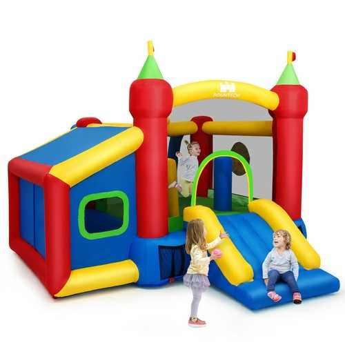 Inflatable Bounce House Kids Slide Jumping Castle