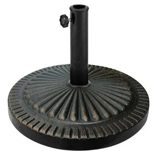 31.5 lbs Market Heavy-Duty Outdoor Stand Bronze Umbrella Base