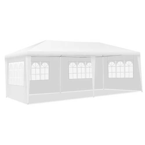 10' x 20' Canopy Tent Wedding Party Tent with Carry Bag - Color: White