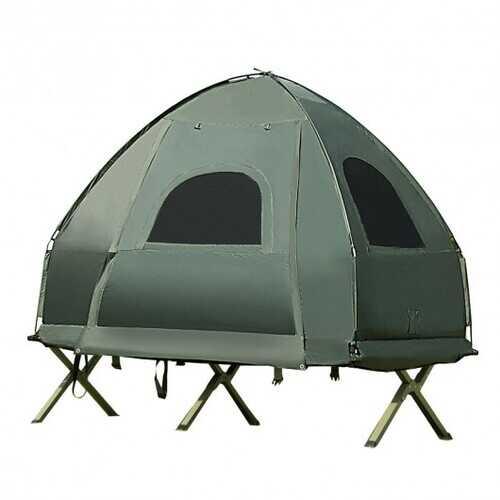 1-Person Compact Portable Pop-Up Tent Air Mattress & Sleeping Bag