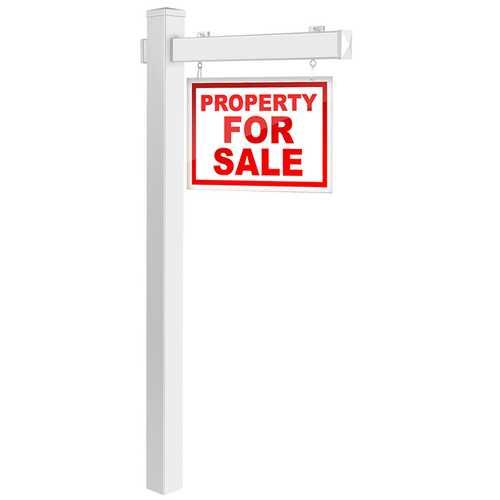 6' Vinyl UPVC Real Estate Sign Post Realtor Yard Sign Post