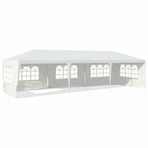 10' x 30' Outdoor Party Wedding 5 Sidewall Tent Canopy Gazebo