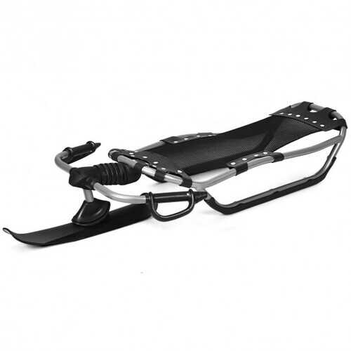 Snow Racer Sled w/ Textured Grip Handles & Mesh Seat