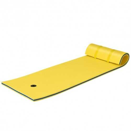 3-layer Tear-resistant Relaxing Foam Floating Pad-Yellow