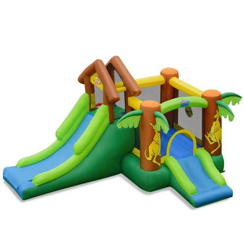 Kids Inflatable Jungle Bounce House Castle with Bag