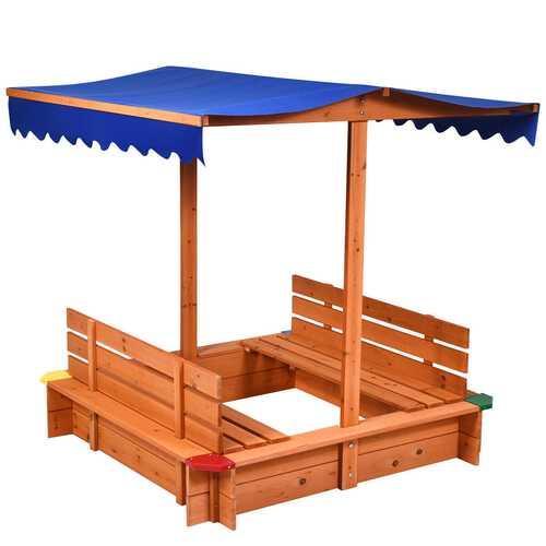 Kids Outdoor Playset Cedar Sandbox