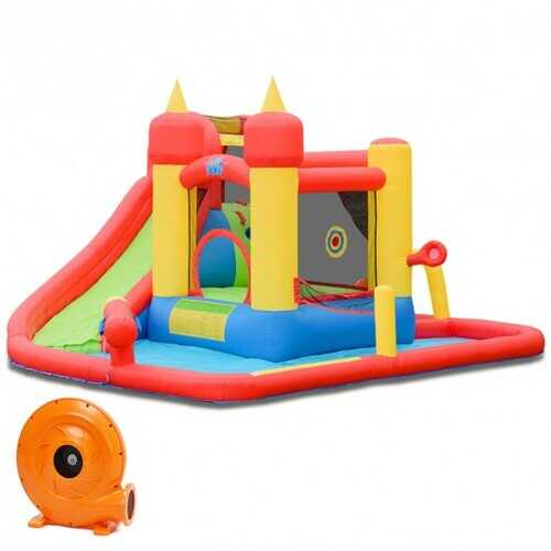 Inflatable Water Slide Jumping Bounce House with 740 W Blower