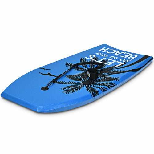 Super Lightweight Bodyboard Surfing with Leash EPS Core Boarding-L - Size: L