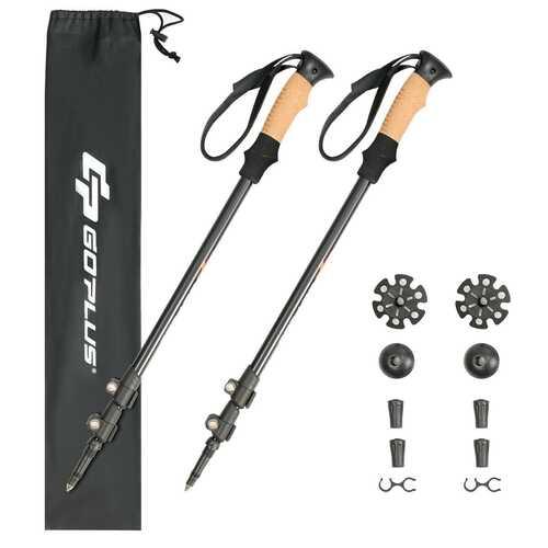 2 Pack Adjustable Walking Hiking Poles