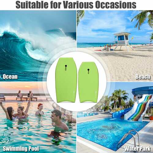 Super Surfing  Lightweight Bodyboard with Leash-L