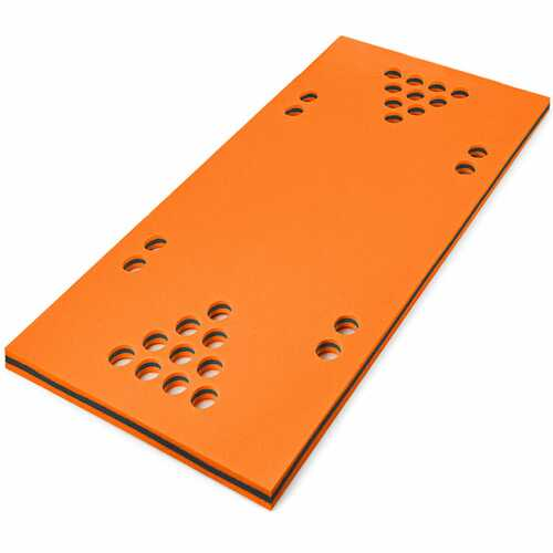 "5.5' x 35.5"" 3-Layer Multi-Purpose Floating Beer Pong Table-Orange - Color: Orange"