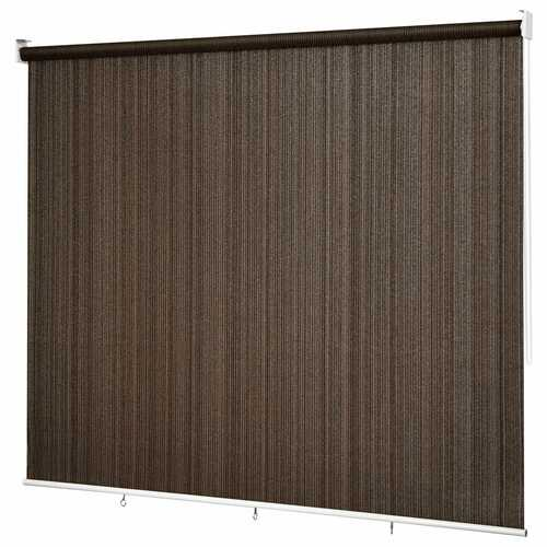 6' x 6' Roller Light Filtering Protection Window Shade Blind-Coffee
