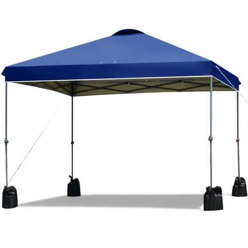10'x10' Outdoor Commercial Pop up Canopy Tent-Blue - Color: Blue