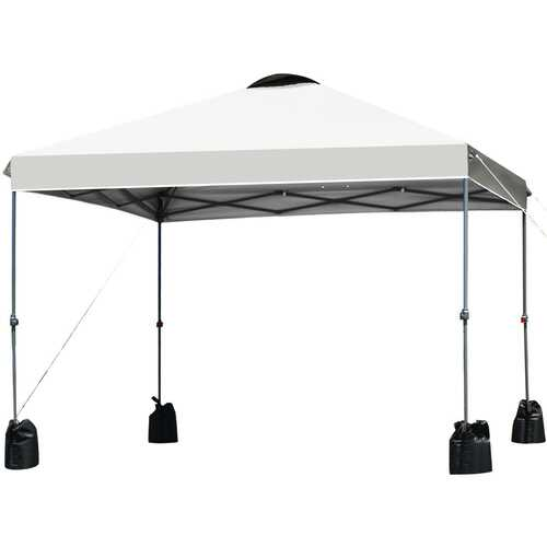 10'x10' Outdoor Commercial Pop up Canopy Tent-White - Color: White