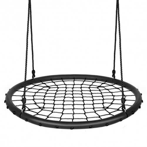40'' Spider Web Tree Swing Set-Black