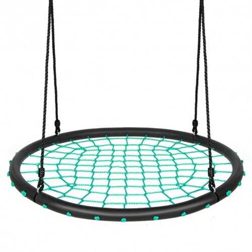 40'' Spider Web Tree Swing Set-Green - Color: Green