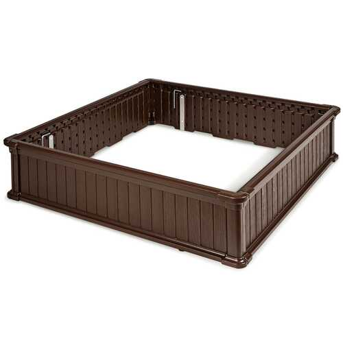 "48.5"" Raised Garden Bed Planter for Flower Vegetables Patio-Brown"