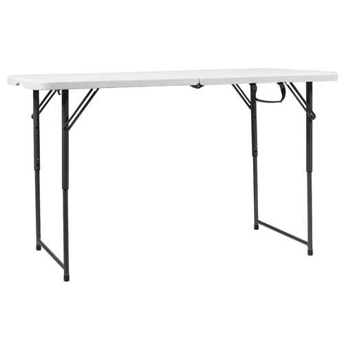 4ft Adjustable Camping and Utility Folding Table