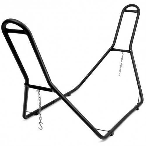 Multi-Use Universal Hammock Stand Adjustable Heavy Duty Hammock Frame - Color: Black