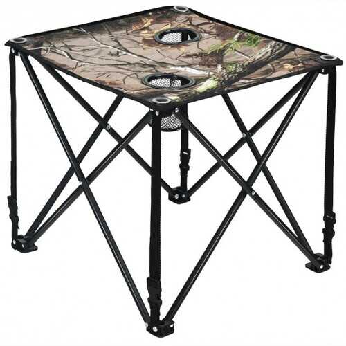 Outdoor Portable Lightweight Folding Camping Hunting Table with 2 Cup Holders