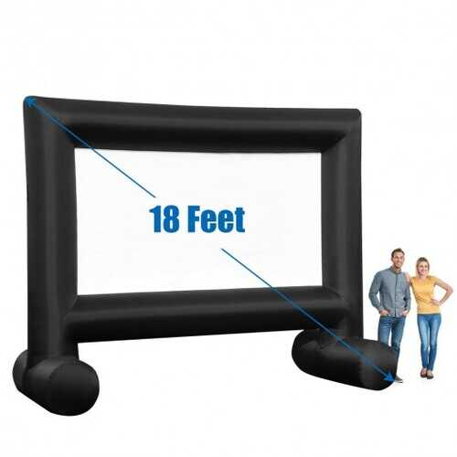Inflatable Outdoor Movie Projector Screen with Blower and Carrying Bag-18' - Size: 18'