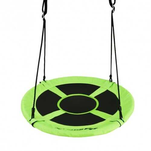 "40"" 770 lbs Flying Saucer Tree Swing Kids Gift with 2 Tree Hanging Straps-Green - Color: Green"