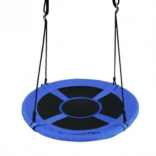 "40"" 770 lbs Flying Saucer Tree Swing Kids Gift with 2 Tree Hanging Straps-Blue - Color: Blue"