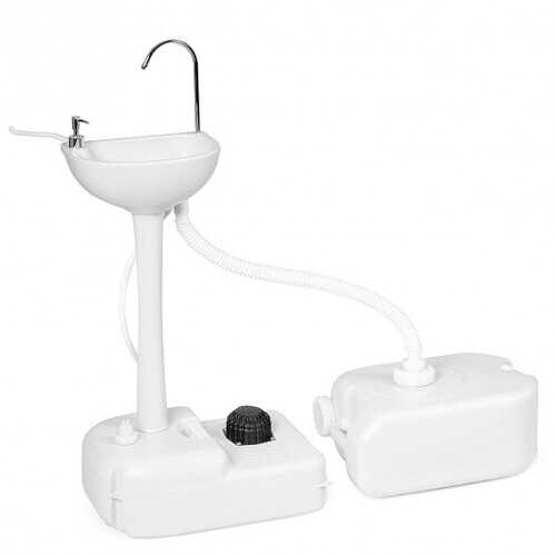Camping Hand Wash Station Basin Stand with 4.5 Gallon Tank