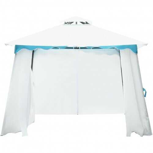 2-Tier 10' x 10' Patio Gazebo Canopy Tent w/ Side Walls