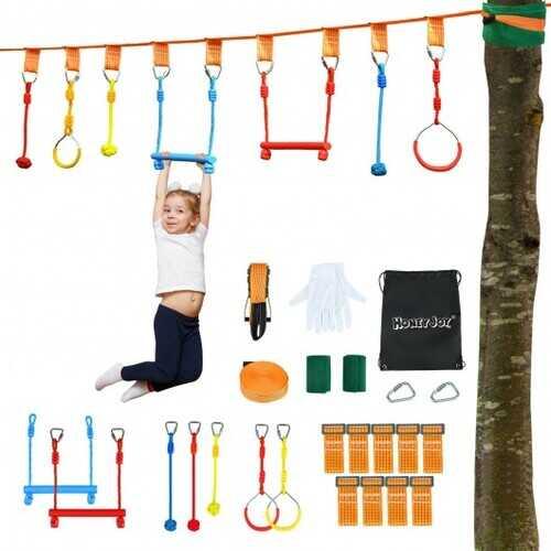 50 Ft Ninja Obstacle Course Line Kit for Kids