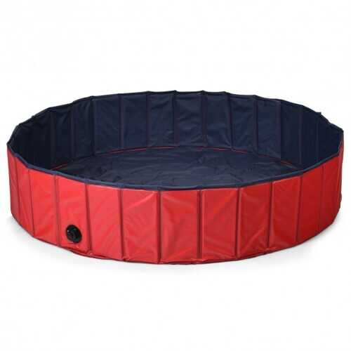 "55"" Foldable Dog Pet Pool-Red"