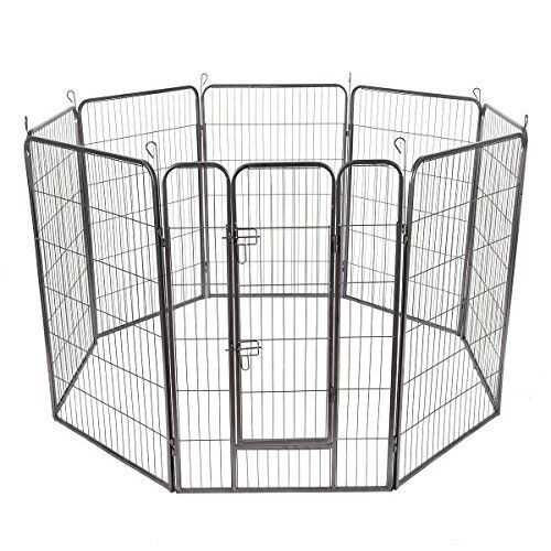 8 Panels Sturdy Metal Pet Fence