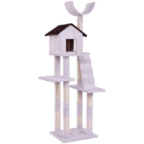 Condo Tower Scratching Posts Play House Cat Tree with Ladder