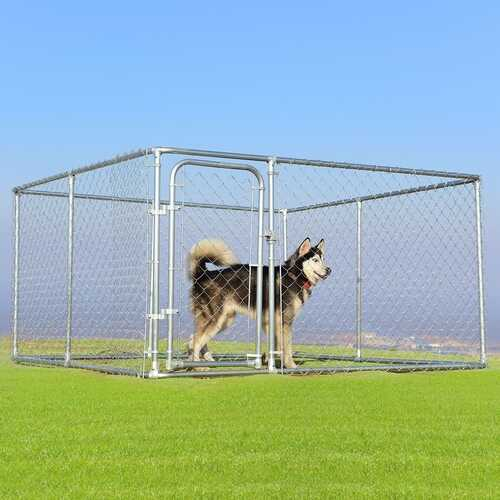 7.5' x 7.5' Pet Dog Run House Kennel