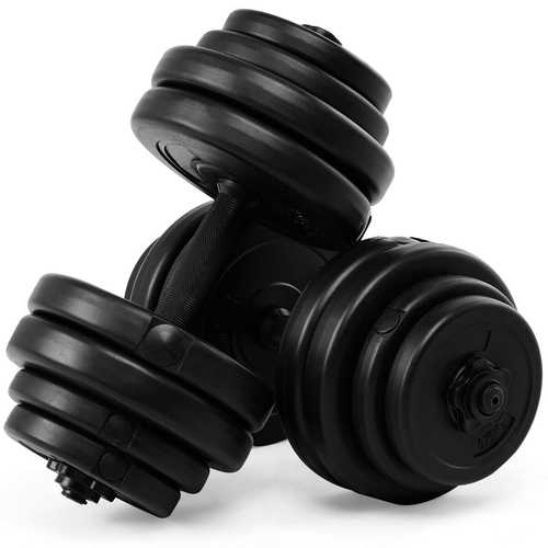 64 lbs Adjustable Weight Dumbbell Set - Color: Black