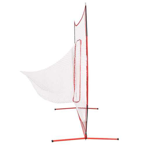 Goplus 7  7' Baseball Softball Hitting Batting Training Net-Red