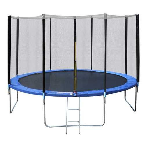 14' Trampoline Combo with Safety Enclosure Net Pad & Ladder