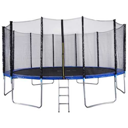16' Trampoline Combo w/ Safety Enclosure Net  Spring Pad & Ladder
