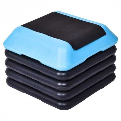 "16"" x 16""  Adjustable 4 Risers Lightweight Aerobic Pedals"